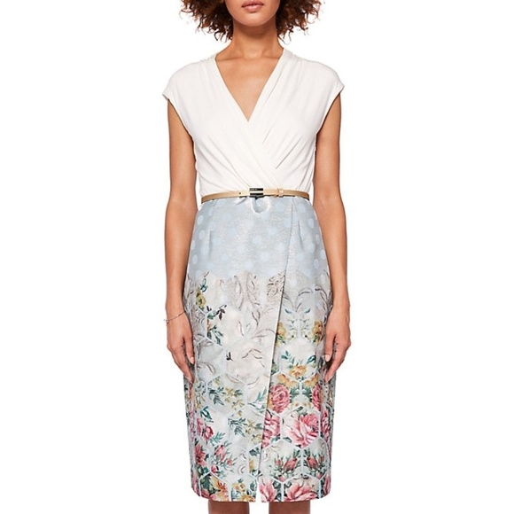 Ted Baker Dresses & Skirts - Ted Baker London Macal Patchwork Wrap Dress w/Belt